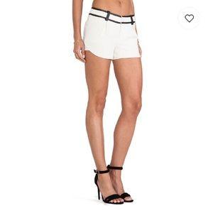 Alice + Olivia Lamb Leather Shorts Size 8